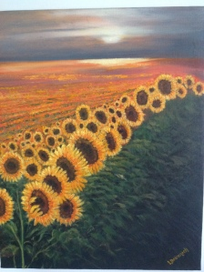 """Sunflowers"" by Lisa Deiranieh"