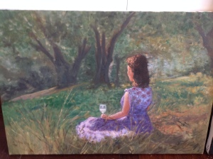 """Stefania with Wine Glass"" by Lisa Deiranieh"