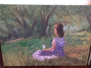"""Stefania with Wine Glass"" by Lisa Deiranieh"