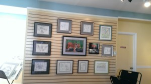 Wall display at Wimsey Cove Maps & Art