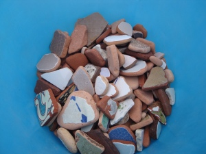 Bits of Tile/Beach Combing in Vietri, Italy