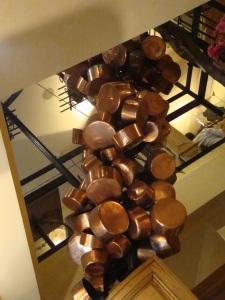 Copper Pot Sculpture In Paris
