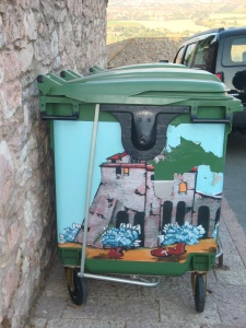 Painted Dumpster in Assisi